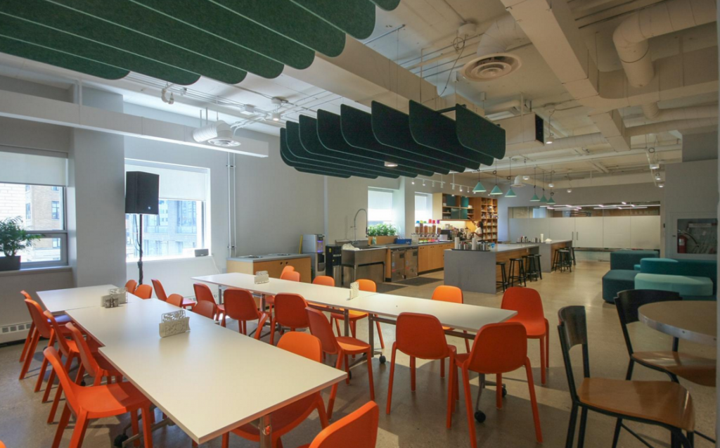 A space to gather and learn at Influitive HQ
