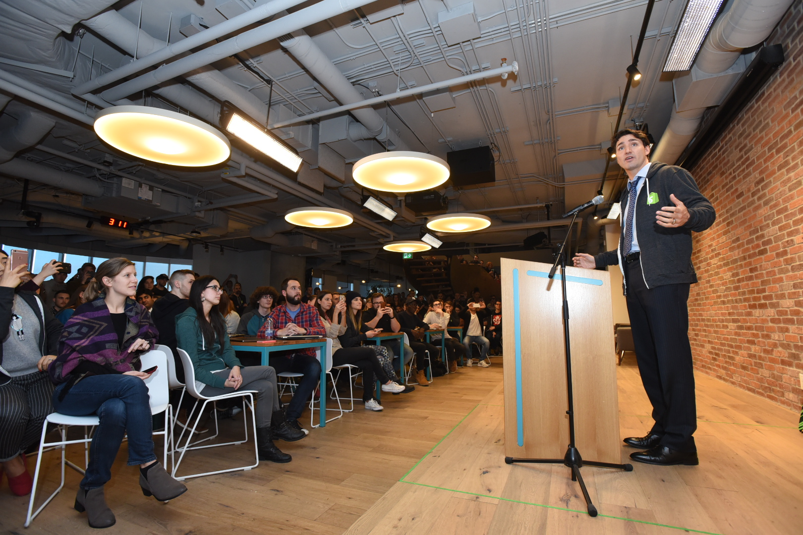 Justin Trudeau Takes Part in Hour of Code's Historic Global Launch