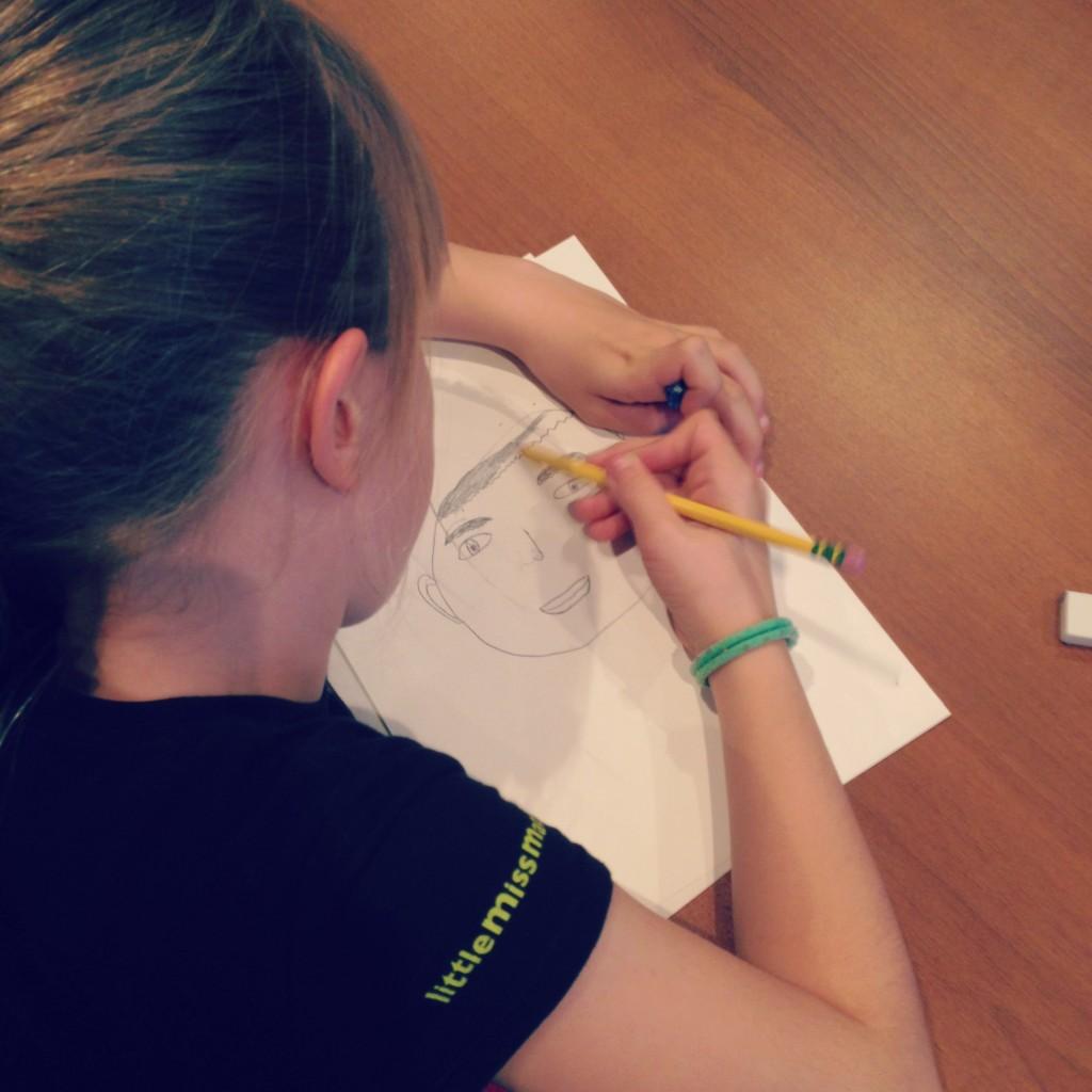Drawing portraits!