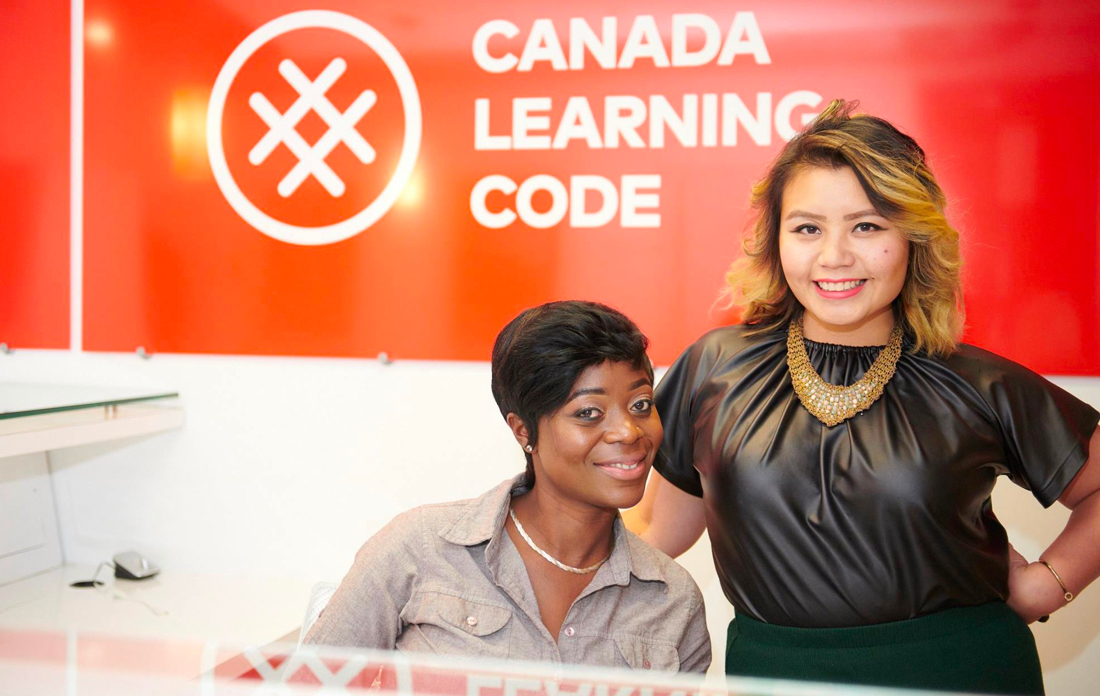 picture of Alicia Joseph and Carolyn Van at Head office